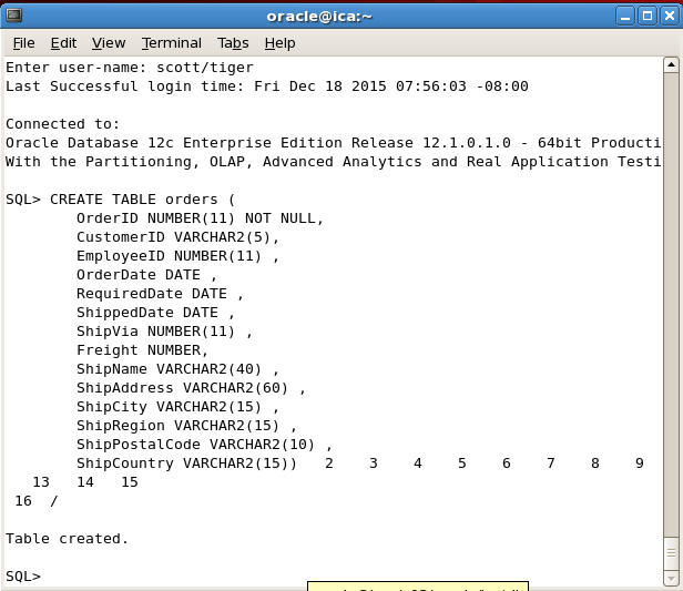 Transferring data from mysql to oracle - Create table in oracle sql developer ...