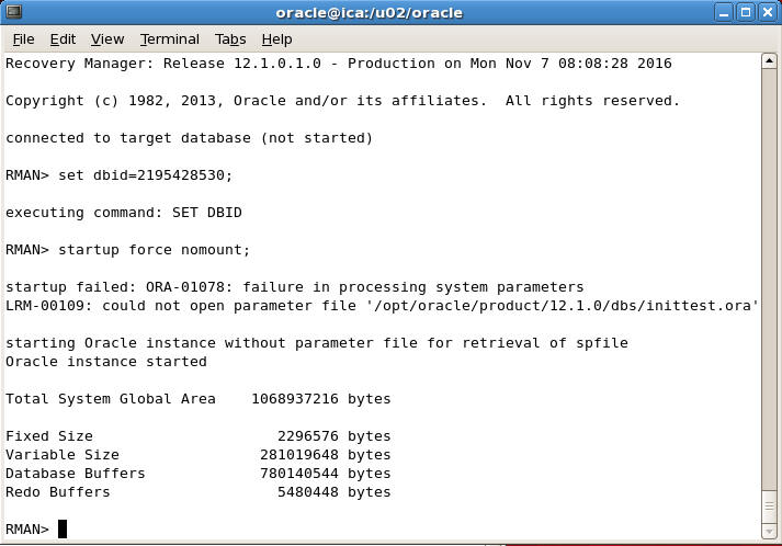 Oracle spfile location asm