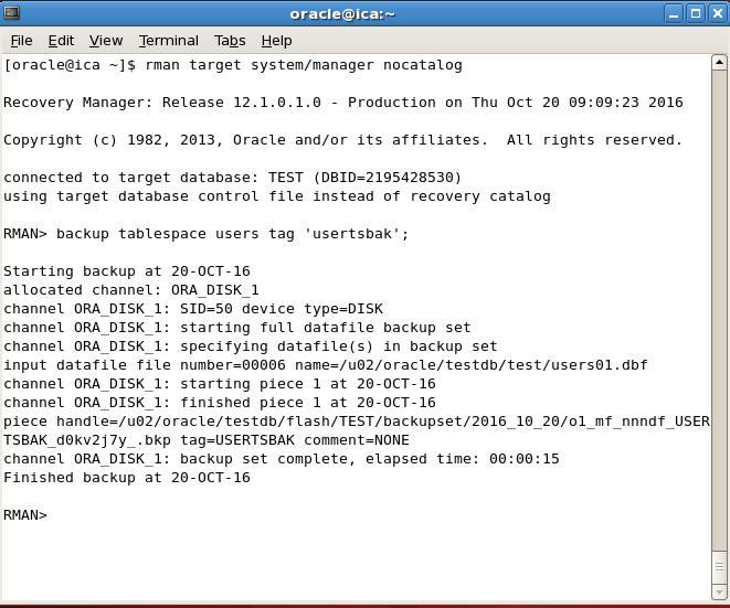 rman tablespace backup